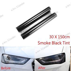 30 x150cm Light Smoke Black Tint Film Headlights Tail lights auto Car Vinyl Wrap