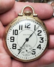 16s 17J Of Gf Pocket Watch-Running Waltham 1907 Model 1899 Grade No. 625