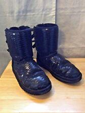 UGGS Women's Shoes Black Boot Size 6 Bailey BowsSequin Sparkle