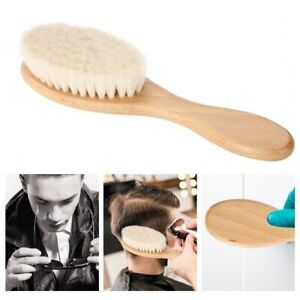 Mens Natural Wooden Soft Oil Head Hair Comb Beard Brush Styling Cleaning Tool