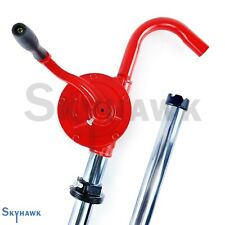 55 Gal Self Priming Hand Crank Rotary Drum Barrel Oil Transfer Pump Witho Pipe
