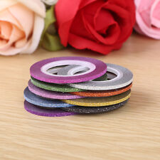 New 10X Colors Rolls Striping Tape Line Nail Sticker Kit Frosted Art UV Gel Tip