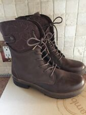 JBU Hemlock Encore Vegan Brown 7 1/2 side zip boots New in box