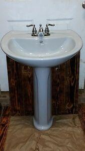 American Standard Grey Pedestal Sink Rare Color