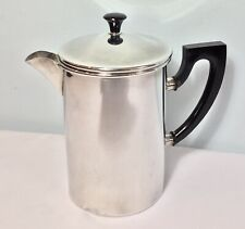 Vintage 1950s Melior UK Coffee Pot Cafetiere French Press Silverplate Bakelite