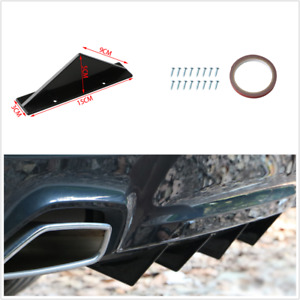 4Pcs Triangle Mini Rear Spoiler Diffuser Universal Fit For Car Rear Bumper Lower