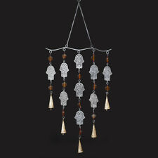 Large Wind Chime with Hamsa Fatima Hands - Gorgeous Unique Hanging Decor 40262