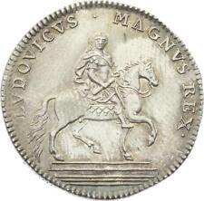 O3937 TRES RARE Jeton Louis XIV Extraordinaire guerres 1715 Argent Silver SPL !!