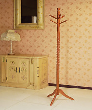 Wood Coat Rack Floor Stand Hall Tree Holder Wooden Hat NEW