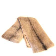 MICHAEL KORS COLLECTION Mink Fur Long Scarf Natural Fawn Beige (MSRP $3,595)