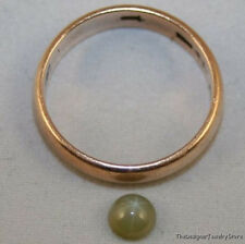 LAB GROWN OLIVE GREEN STAR SAPPHIRE GEMSTONE 5MM ROUND CABOCHON GEM 0.6CT SA30A