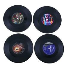 4pcs Retro Vinyl Record Coasters Cup Drinks Holder Mat Tableware Placemat