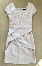Ladies Party Christmas Dress Nude / Beige Like Karen Millen Style - Size UK 8 10