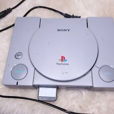 Sony PlayStation With Power Cord And One Game.