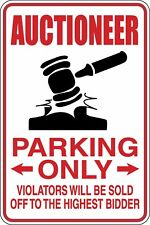 Auctioneer Parking Only Funny Novelty Stickers JDM Euro Med SM1-235