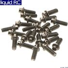 RC 4WD Z-S1124 Miniature Scale Hex Bolts M1.6x4mm Silver