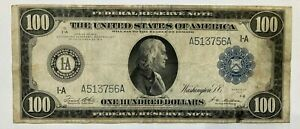 1914 $100 FEDERAL RESERVE NOTE