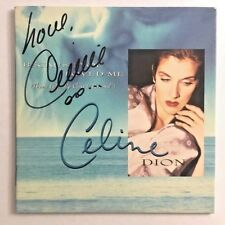 """CELINE DION Signed CD """"UP CLOSE AND PERSONAL"""" Movie FYC Best Original Song Promo"""