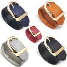 Fashion Womens Handmade Genuine Leather Bracelet Hoop Bangle Wristband Wrap Cuff