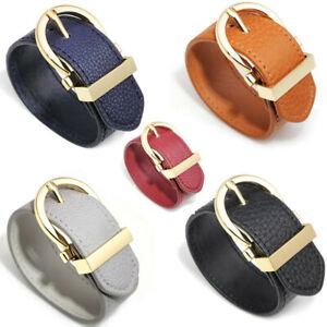 Womens Handmade Genuine Leather Bracelet Bangle Wristband Adjustable Cuff Wrap