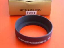 New! Metal Wide Angle 43mm Screw-in Lens Hood