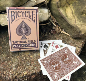 Bicycle Poker Playing Cards - Tactical Field - 1 SEALED DECK (Brown Desert Camo)