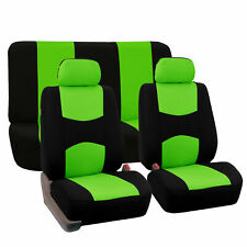 Car Seat Covers Green Black for Auto Car w/Two Headrests Cover