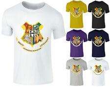 New Kids Boys Girls Harry Potter Hogwarts School Emblem Fantasy T-Shirt Top 3-14