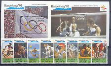 Olympiade 1992, Olympic Games - Sierra Leone - 1509-1516, Bl.137-138  ** MNH