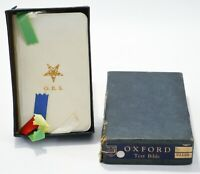 Bible Oxford Text Masons Order of the Eastern Star OES 1944 with Box Mini