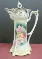 Hand Painted Victorian Porcelain, R S Prussia Chocolate Pot