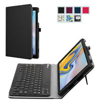 For Samsung Galaxy Tab A 10.5 inch 2018 Tablet Folio Keyboard Case Cover Leather