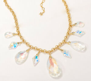 Kirks Folly Spellbound Statement Necklace goldtone