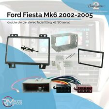 Ford Fiesta Mk6 2002-2005 double din car stereo facia fitting kit ISO aerial