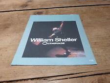WILLIAM SHELLER - OLYMPIADE !!!!!!!PLAN MEDIA / PRESS KIT !!!!!!!!!!
