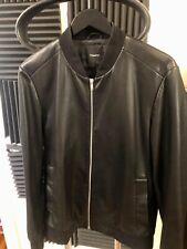 Theory Men's bomber soft lambskin leather jacket size large