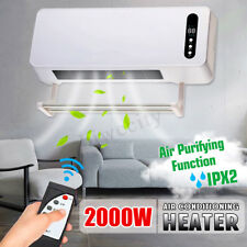 2000W Wall Mounted Heater Timing Space Heating Air Conditioner Air Purification