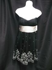 NWT JUNIORS WOMENS TEEZE ME BLACK SILVER COCKTAIL PROM DRESS SIZE S SMALL