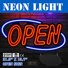 "Big Horizontal 31.5""X15.7"" Neon Open Sign 60W Led Light 60W Clubs Horizontal"