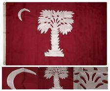 3x5 Embroidered South Carolina Big Red Sc 600D Nylon Flag 3'x5' w/ 2 Clips