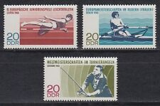 DDR East Germany 1968 ** Mi.1372/74 Sport Angeln Rudern Fishing Rowing