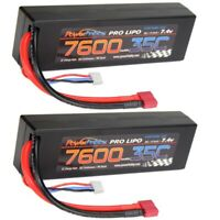 Powerhobby 2s 7.4v 7600mah 35c Lipo Battery w Deans Plug 2-Cell ( 2 Pack )