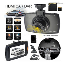 """1080p Dash Cam Wide Angle Night Vision Car DVR 2.4"""" LCD Camera Support 32gb Card"""