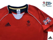 ADIDAS TEAM GB ISSUE RIO 2016 ELITE ATHLETE RED EVENT TEE-SHIRT Size 14 Chest 36