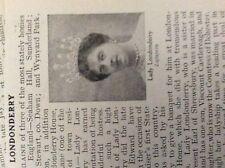 m10-9c ephemera 1905 small article lady londonderry