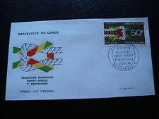 CONGO (brazzaville) - enveloppe 1er jour 20/7/1968 (cy72)