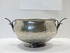 SIGNED Arts And Crafts Hammer Silver Plate/Copper Bowl GALAXY Hand Wrought 5061