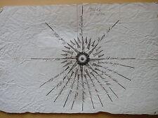 1810 circa-LA ROSA DEI VENTI-DISEGNO AD INCHIOSTRO-MARINA