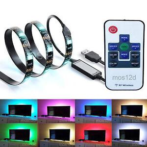 USB LED Strip Light RGB TV PC Lighting 20 Colours 20 Mode - Remote Control