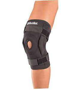 Knee Brace Hinged Wraparound Mueller Weak Sprain Strain Support 3333 Sports NEW